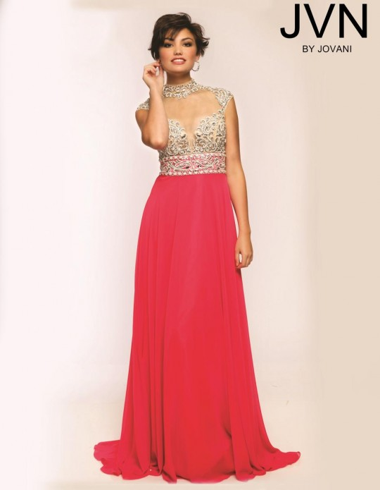 Size 0 Hot Pink JVN Prom JVN20509 Cap Sleeve Gown by Jovani: French ...