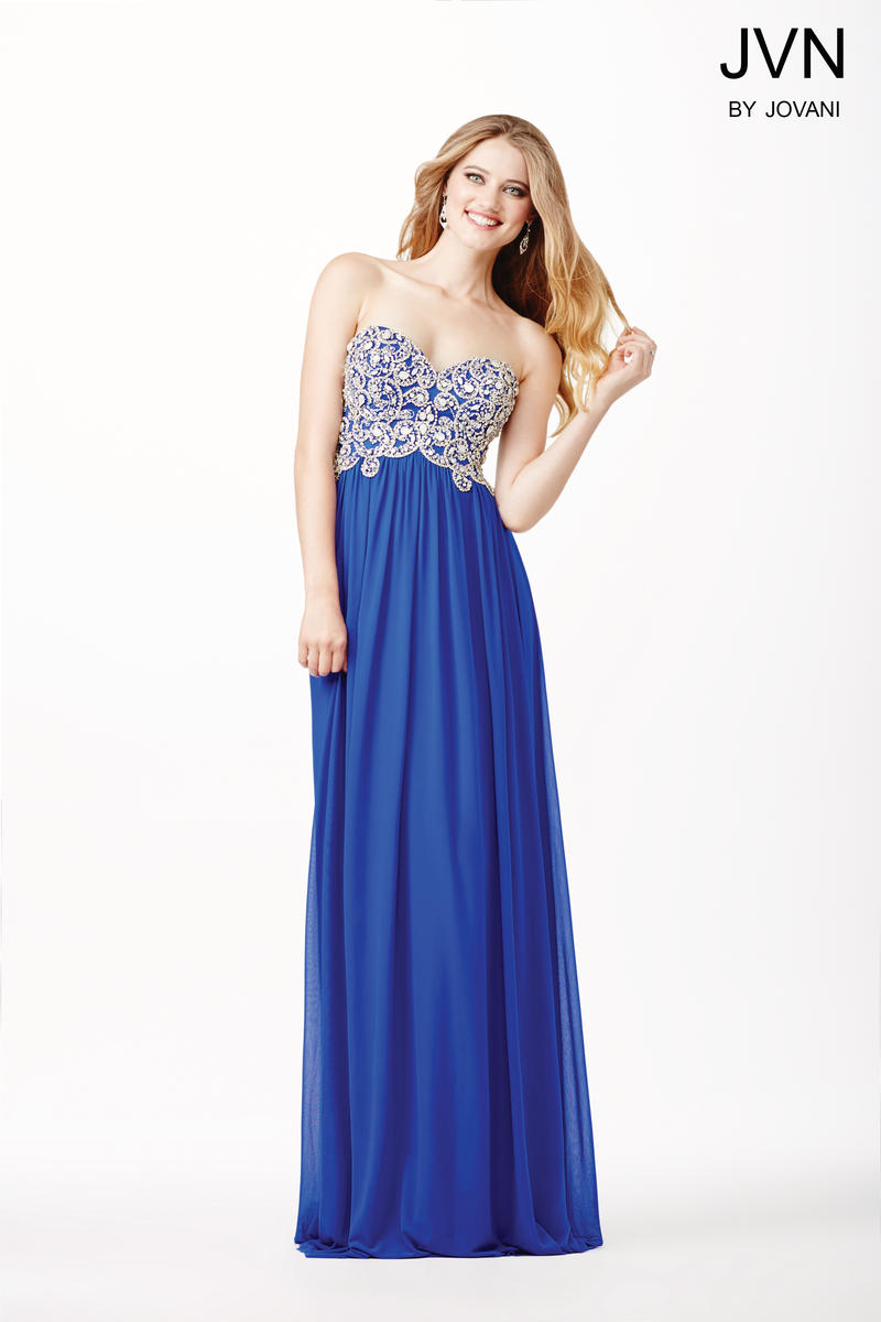 Jvn prom jvn36850 gown with beaded bodice french novelty for Cheap wedding dresses in knoxville tn