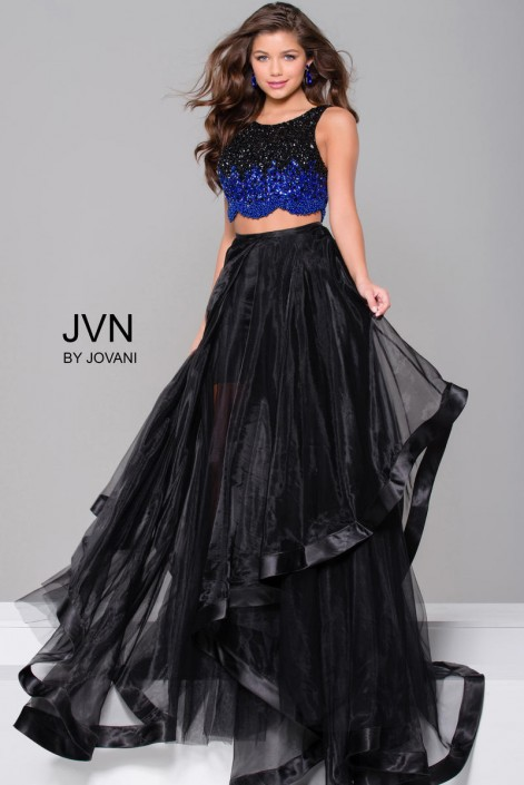 86d8416edb1ea JVN Prom JVN45593 Beaded 2 Piece Gown  French Novelty