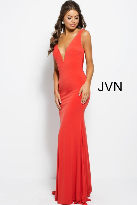 JVN Prom JVN47401 Low Cut Back Gown  French Novelty 44ba25c11