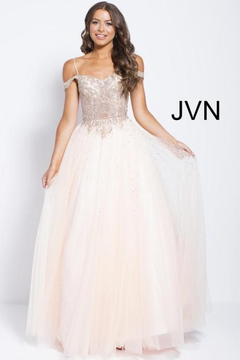 Size 10 Lavender-Gold JVN Prom JVN58403 Off Shoulder Gown: French ...