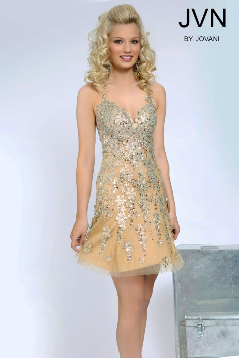 0e01ea2020c Jovani JVN93431 Short Fitted Homecoming Dress  French Novelty