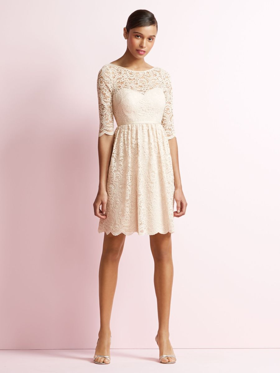 Jenny yoo jy510 short lace bridesmaid dress french novelty for Jenny yoo wedding dresses