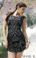 Shail K KL3234 Low Back Cocktail Dress image