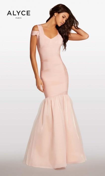 Alyce Kalani Hilliker KP100-2 Bandage Mermaid Prom Dress: French Novelty