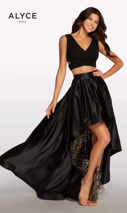 35d9c8d8278 Alyce Kalani Hilliker KP113 High Low 2pc Prom Dress  French Novelty