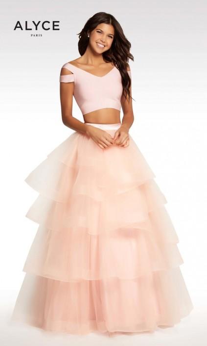 22f8477d549 Kalani Hilliker by Alyce KP122 Tiered 2pc Prom Dress  French Novelty