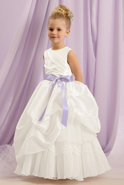 0944660c4f Sweet Beginnings L133 Lace Organza Taffeta Flower Girl Dress  French Novelty
