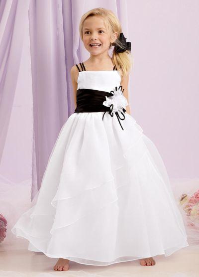 Sweet Beginnings L134 Layered Organza Flower Girl Dress: French ...
