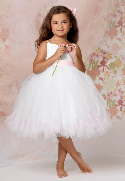 Sweet Beginnings L296 Knee Length Flower Girls Tutu Dress: French ...