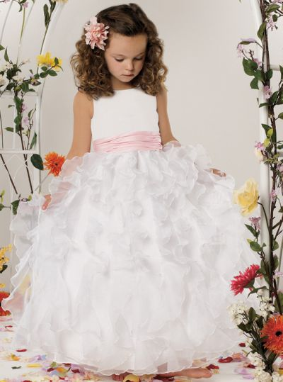 Jordan Sweet Beginnings Organza Ruffle Flower Girl Dress L303 ...