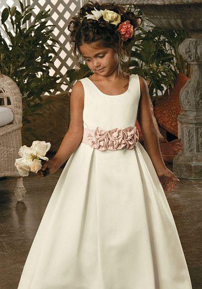 satin flower girl dresses
