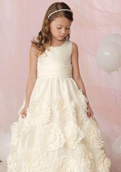 Jordan Sweet Beginnings Flower Girl Dress with Flowers on Skirt ...