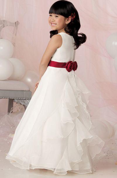 5b45fcec03 Jordan Sweet Beginnings Cascading Ruffles Flower Girl Dress L629  French  Novelty