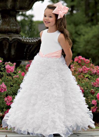 Jordan Sweet Beginnings Flower Girl Dress L783: French Novelty