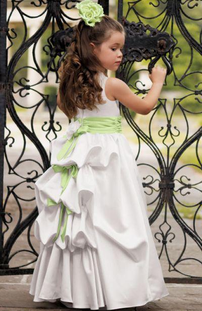 Jordan Sweet Beginnings Bustle Back Flower Girl Dress L790: French ...