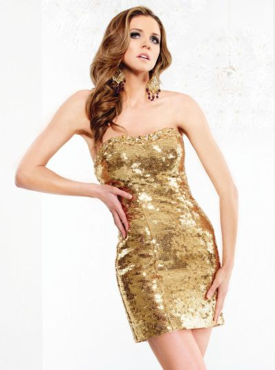 Gold dress homecoming graphics