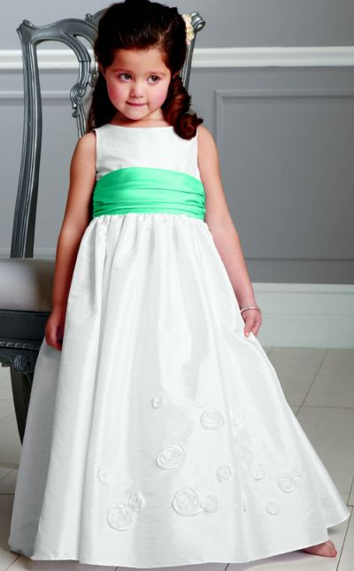 c2a3ac6fc Jordan Sweet Beginnings Flower Girl Dress with Satin Waist L892: French  Novelty