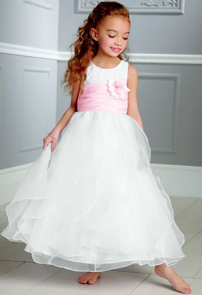 Jordan Sweet Beginnings Layered Organza Flower Girl Dress L893 ...