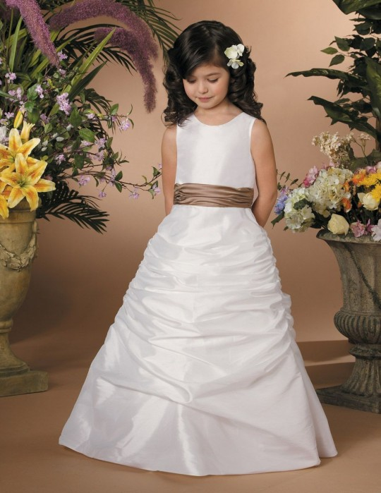 Jordan Sweet Beginnings Flower Girl Dress with Ruched Skirt L900 ...