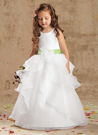 Sweet Beginnings Organza Tiered Flower Girls Dress L971: French ...