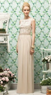 3889142f689 Lela Rose LR182 Lace and Satin Bridesmaid Dress