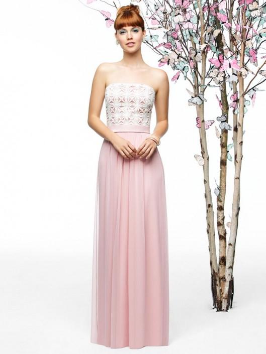 e8fed728c9776 Lela Rose LR204 Lace and Chiffon Bridesmaid Gown: French Novelty