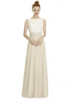18812b8a7e7 Lela Rose LR240 Long Bridesmaid Dress with Lace Top