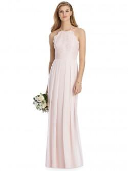 5ca397f1e98 Lela Rose LR244 Lace Halter Bridesmaid Dress