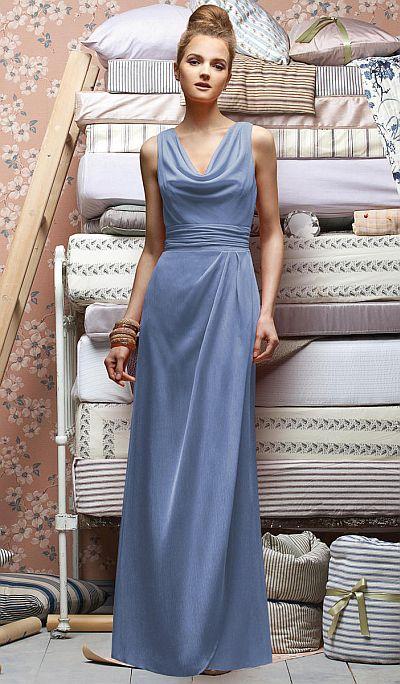Lela Rose LX154 Cowl Neck Bridesmaid Dress: French Novelty