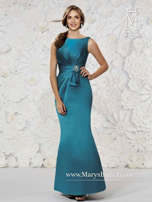 Modern Maids M1491 Satin Fit And Flare Bridesmaid Dress