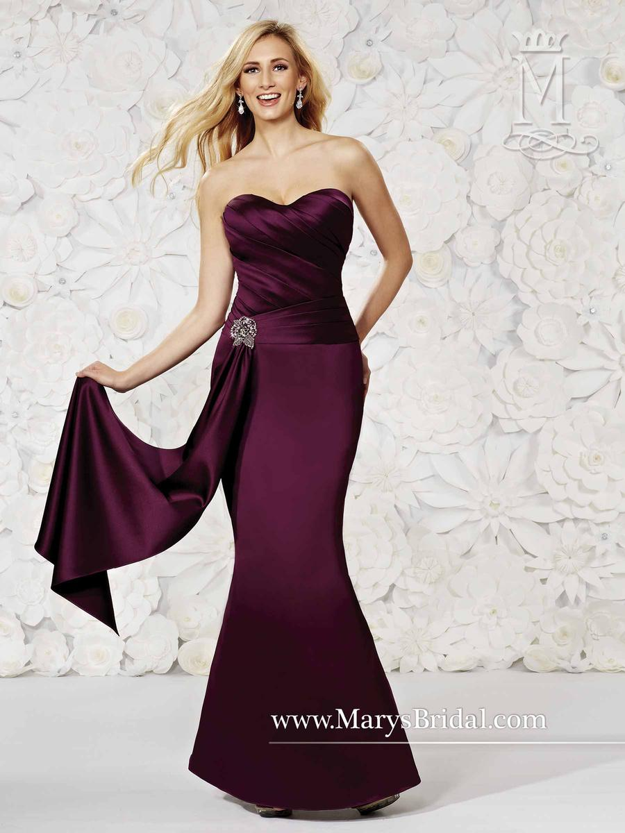 Modern Maids M1496 Satin Fit and Flare Bridesmaid Dress: French Novelty