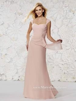 Modern Maids M1497 Wrap Pleated Bridesmaid Dress