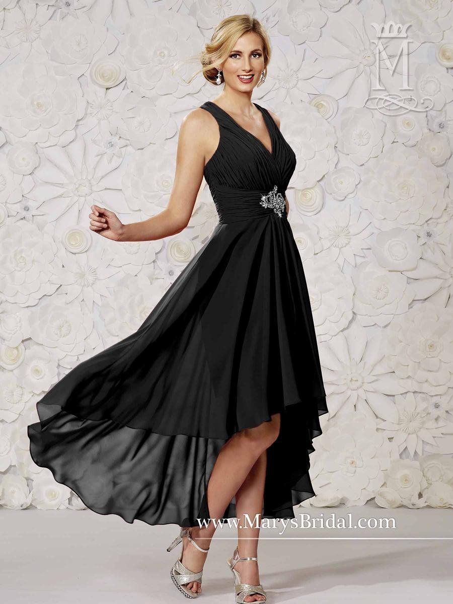 Modern Maids M1810 Tea Length Hi Low Bridesmaid Dress
