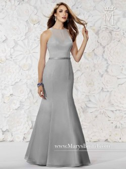e11a811a631 Modern Maids M1812 Halter Fit and Flare Bridesmaid Gown