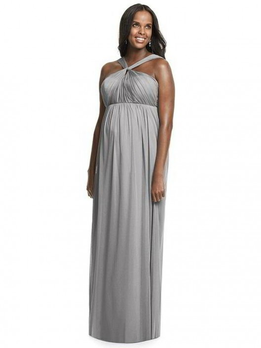 Dessy M431 Chiffon Knit Maternity Bridesmaid Dress: French Novelty