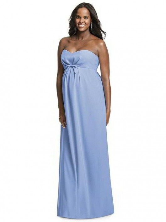 Dessy M434 Crepe Maternity Bridesmaid Dress: French Novelty