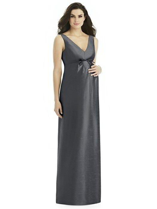 Alfred Sung M438 Peau De Soie Maternity Bridesmaid Dress: French Novelty
