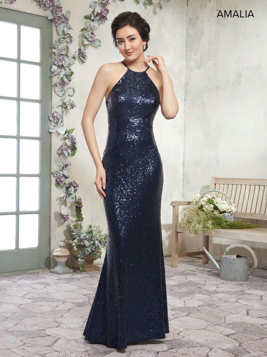 3c937792858 Amalia by Marys Bridal MB7001 Sequin Bridesmaid Dress  French Novelty