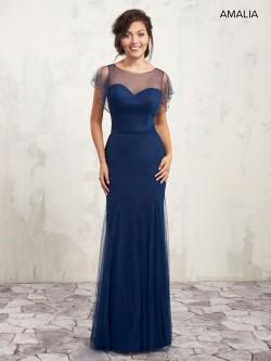 184961029e9 Marys Amalia MB7002 Sheer Flutter Sleeve Bridesmaid Dress