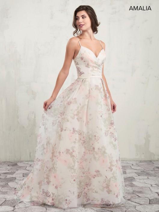 3020b4dfb58f Amalia by Marys MB7007 Floral Organza Bridesmaid Dress: French Novelty