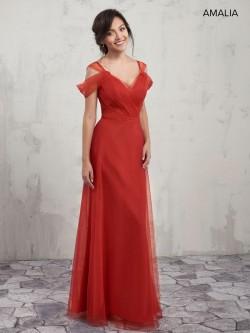 adc69f599214 Amalia by Marys MB7008 Cold Shoulder Bridesmaid Dress