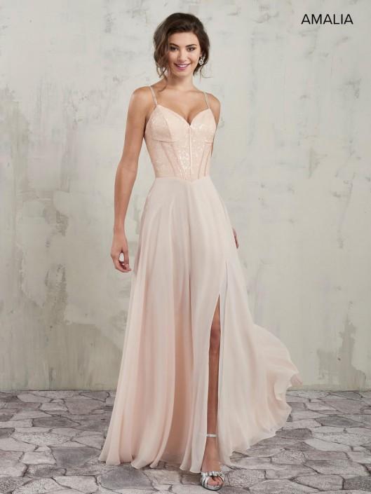 bda7ecb2e Amalia By Marys Mb7017 Sequin Corset Top Bridesmaid Dress French