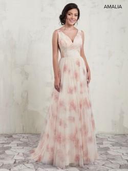 0e7682a64341 Amalia by Marys MB7018 Floral Print Tulle Bridesmaid Dress