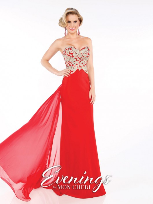 Evenings by Mon Cheri MCE11608 Prom Gown: French Novelty