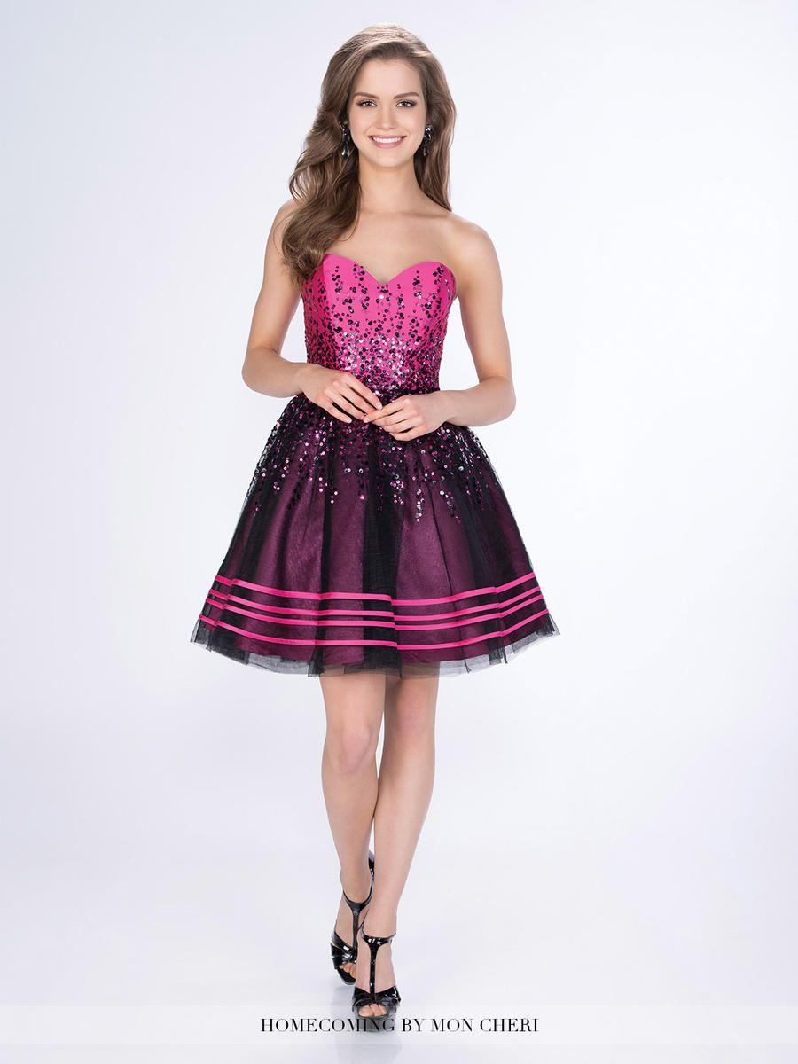 Mon Cheri Shorts MCS21665 Sequin Short arty Dress: French Novelty