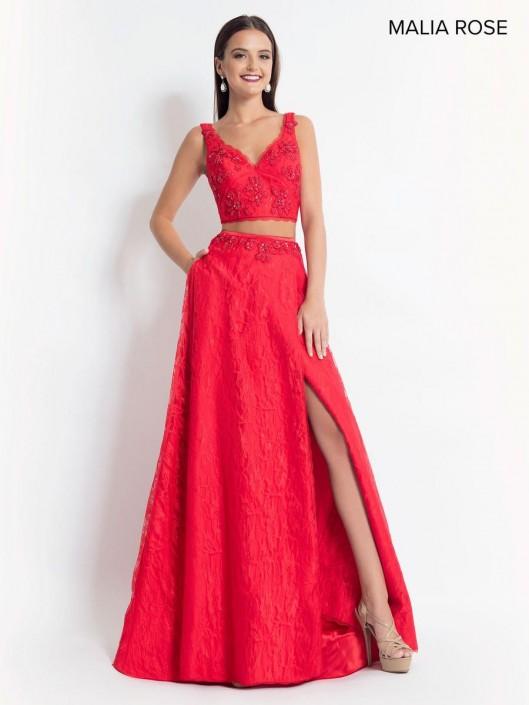 Malia Rose Mp1006 2 Piece Prom Dress With Pockets French Novelty