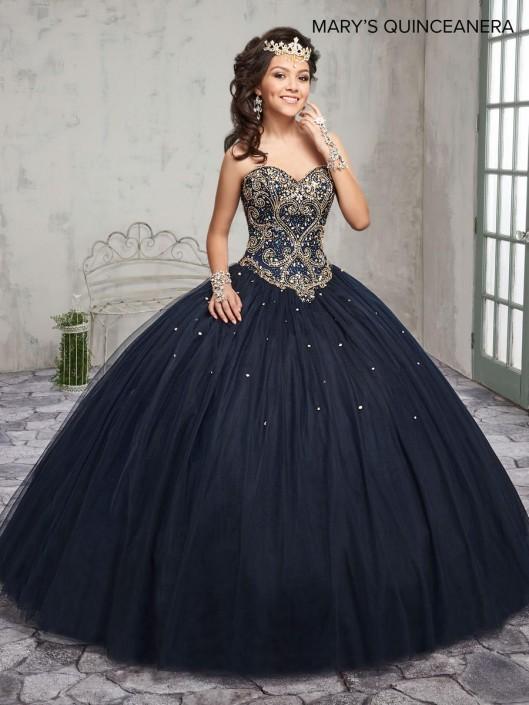 4b5e0fe9b03 Marys MQ1008 Beaded Tulle Quinceanera Dress  French Novelty