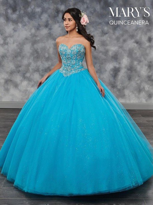 efe0eb98ddf Marys MQ1023 Glitter Tulle Quinceanera Dress  French Novelty