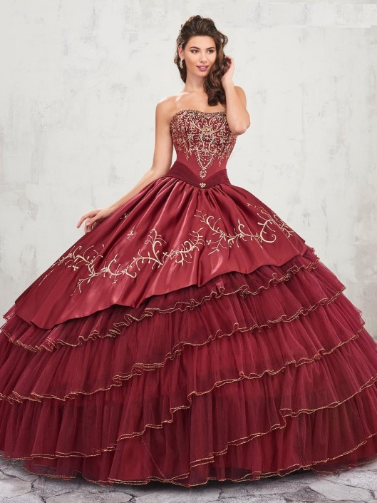 Marys MQ2007 Charro Style Tiered Quinceanera Dress